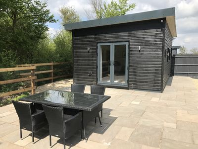 Photo for Luxury Cabin near Legoland, Windsor, Ascot and Lapland with enclosed garden