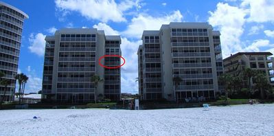 The red circle is our beachfront unit.