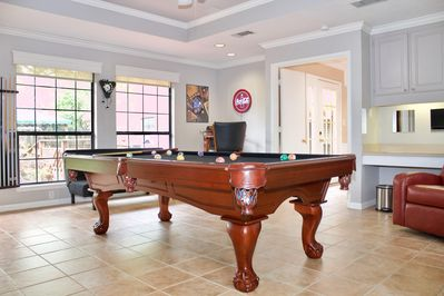 our lovely game room will definitely keep you entertained, with SMART TV, surrou