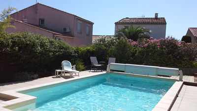 Photo for Lovely villa  in Marseillan, with private pool and garden, sleeps 6/8