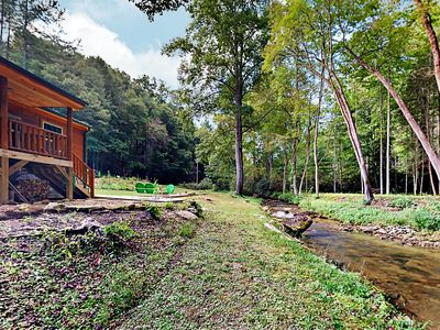 Photo for Creekside All-Suite 2BR w/ Private Porch, Mins to Pisgah National Forest