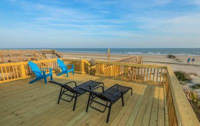 Photo for 4 BR Oceanfront, Screen Porch & Large Deck