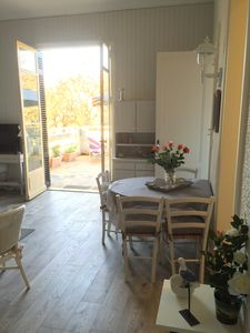 Photo for Arcachon Apartment 40m2 + terrace of 45 m2 quiet 100 meters from the beach.