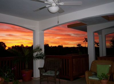 Spectacular Sunrise from the veranda