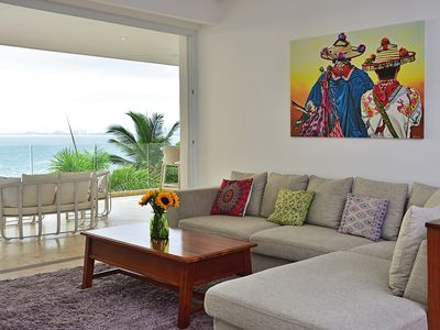 Photo for Sayan Beach Oceanfront Luxury Condo - Sleeps 6!