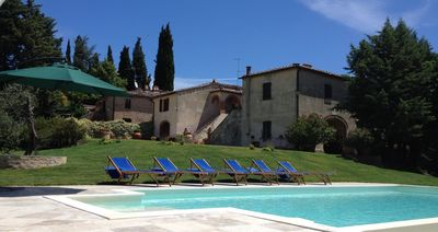 Photo for Le Borghe farmhouse (10 guests) - Montalcino, Tuscany