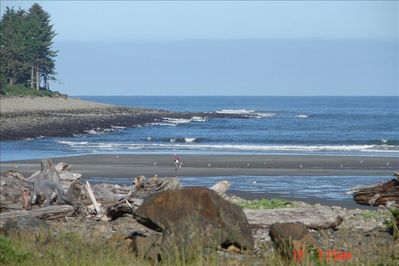 This view is a short walk to the cove for clamming, tide pools or wave watching