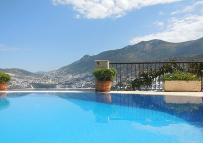 Breathtaking views over the Kalkan bay and the mountains beyond