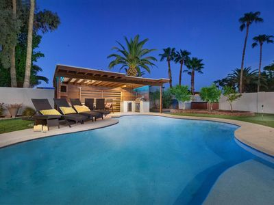 Photo for NEW LISTING! Modern home w/ private pool & hot tub, putting green, pool table
