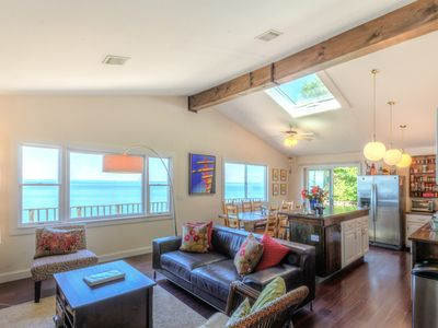 Photo for Waterfront Beach House - Amazing Water Views, Natural & Calm, Wineries & Farms