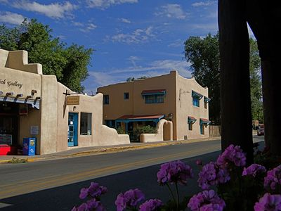 A great view toward the 2nd story apartment in the middle of Taos, NM