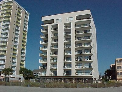 OCEANFRONT VIEW OF CRESCENT TOWERS 1, LOCATED AT 2609 S. OCEAN BLVD NMB, SC.