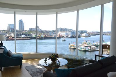 Incredible waterfront view from the living room.