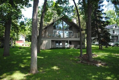 Enjoy the lake life from the large balcony or lower level walkout patio!