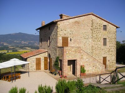 Photo for Farmhouse, private garden and fenced swimming pool on Tuscany-Umbria  border