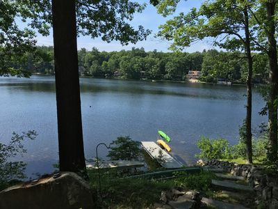 Modern cottage (Sleeps 6) on peaceful, small lake in Southern New Hampshire.