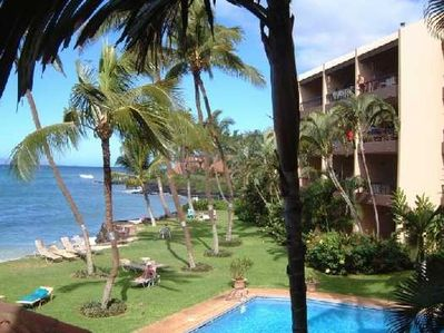 View of Pool and Grounds from Lanai