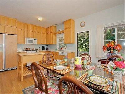 Delicious Kitchen and Dining Area With Garden Views