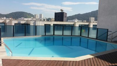 Photo for Flat beach PitangueirasGuarujá Daily offer MAY 150 reais 4 pes pools, serv