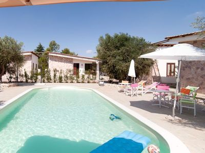 Photo for 8 bedroom Villa, sleeps 16 in Pallanzano with Pool and Air Con