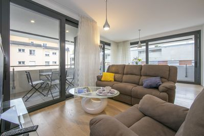 Living room with terrace