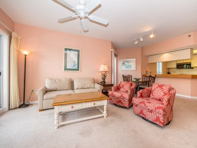 Spacious Living Room - Large comfortable couches, and ceiling fan so you can enjoy your evenings with family and lots of breathing space.