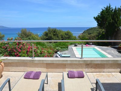 Photo for Amazing house with sea view, heated pool, access to beach in a fantastic area