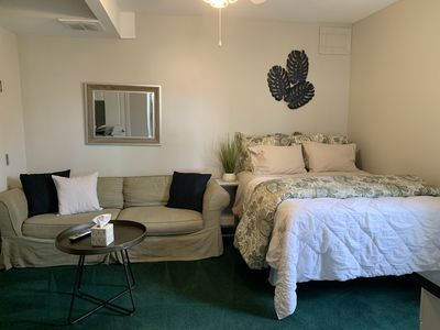 Photo for Efficiency Apartment 3 blocks from the beach pets welcome ground floor