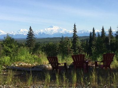 Photo for Talkeetna- private spot with full view of the Denali range