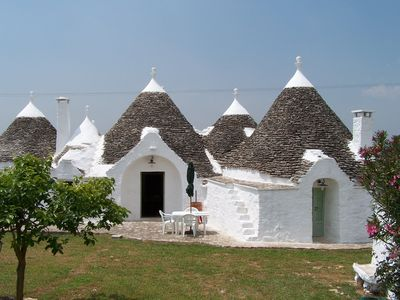 Photo for Trullo in ancient Puglia farmhouse of 1800 in Martina Franca