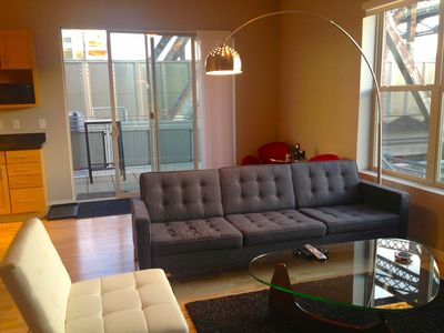 Photo for JUNE PRICE REDUCED!! 2-bed Luxury Condo Riverfront Lodo. Great location. Patio