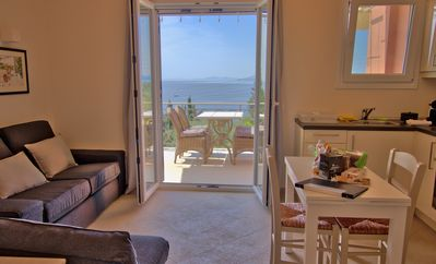 Photo for PALEOPETRES KALAMI: SUPERB SEA VIEWS/ POOL/ 200M FROM BEACH