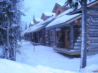 Photo for Traditional Ski Cabin in lovely forest setting in Akaslompolo, Yllas