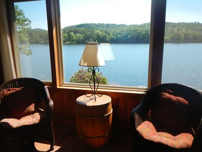 Living room picture window with great views of the lake!