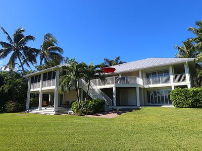 Photo for Newly Refurbished, 6 Bedroom Estate Located Bay Front and Across from the Beach