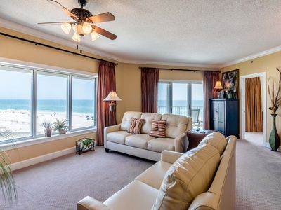 Photo for Beachfront Condo with Unblocked Views and Private Balcony. Community Pool and Onsite Fitness Center!