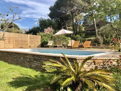 Photo for Villa farigoule: private pool. Beach 15 minutes from the house!