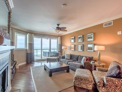 Photo for Ocean View 4 Bedroom 3 Bath Luxury Condo/ High-End Designer Decorated/ Daytona Beach Shores.