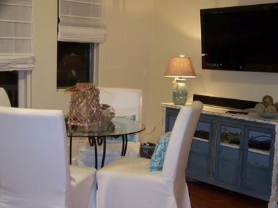 Dining Area with Large T.V.