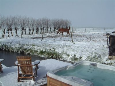 Terrace spa in winter, every season is beautiful here