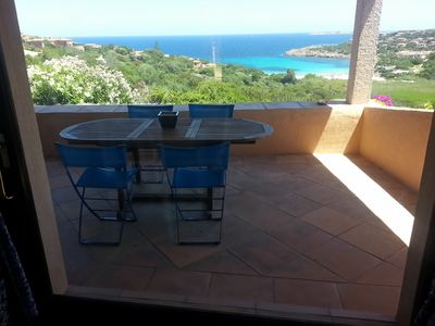 Photo for Porto Cervo: Villino Il Faro - a four rooms villa with private garden, veranda and wonderful sea view