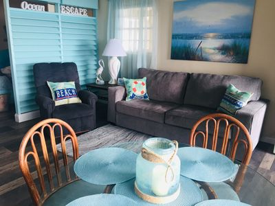 Photo for GULF VILLAGE CONDO ON BEACH, DIRECT VIEW OF THE GULF, Sleeps 4.