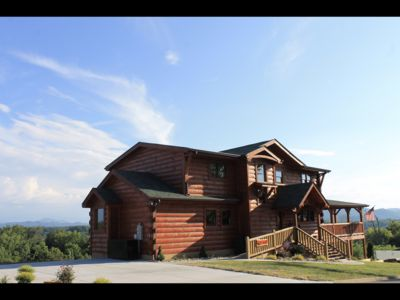 Photo for New Listing,  New Cabin, 4 Master Suites, Panoramic View's. Theater Room. 4000sf