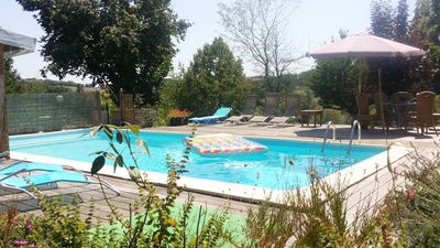 Photo for In quiet location holiday home with swimming pool for 4-5 people