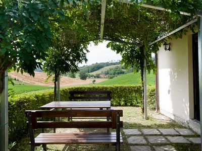 Photo for Pink Cottage with swimming pool in the Botanical Park of Fattoria Della Nave