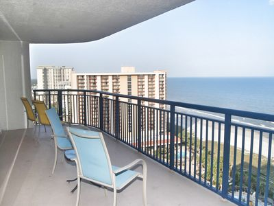 Photo for Brighton 1909. OCEANFRONT CORNER UNIT WITH OVER 2100 SQ FT AND 3 BALCONIES!!!