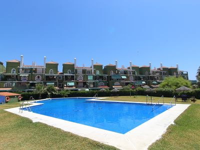 Photo for Beautiful Duplex Close to Beach with Terraces, Pool, Garden, Tennis Court, Wi-Fi & Air Conditioning; Parking Available