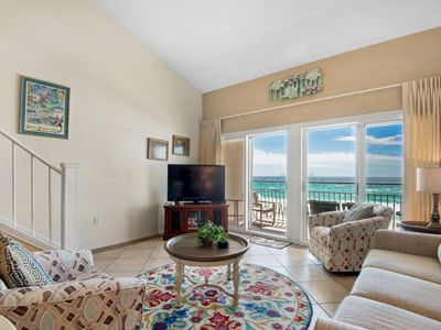 Photo for Charming Condo w/ Gulf View! Grill, Pools, Beach Access