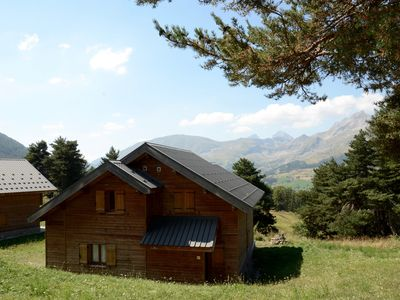 Photo for Mountain chalet with stunning views in French family-friendly, attractive resort