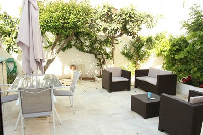 Amazing terrace with nice outside furniture